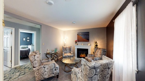 SW The Spa Day Spa & Skin Care Center Gloversville New York - Lobby with Fireplace