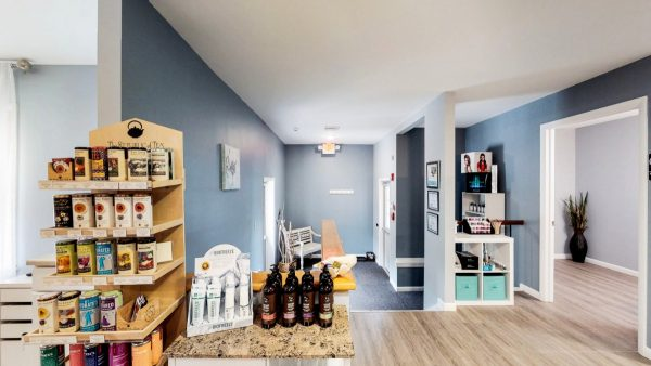 SW The Spa Day Spa & Skin Care Center Gloversville New York - products for sale in lobby on counter